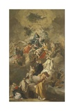 Madonna in Glory with Saints and Angels Giclee Print by Domenico Antonio Vaccaro