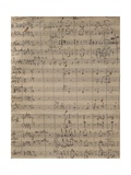 Handwritten Score for German Requiem Giclee Print by Johannes Brahms