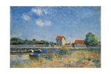The Loing Canal at Saint-Mammes Giclee Print by Alfred Sisley