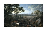 Army of Louis XIV Laying Siege on Tournai Giclee Print by Adam Frans van der Meulen