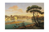 Arno at St. Nicholas Weir Bridge Giclee Print by Gaspar van Wittel
