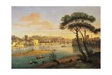 Arno at St. Nicholas Weir Bridge Giclee Print by Gaspar van Wittel