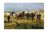 Exercise of Recruits, 1885-1890 Lámina giclée por Giovanni Fattori