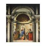 Madonna Between Four Saints Giclee Print by Giovanni Bellini