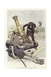 A Soldier Inspects a Cannon Beside the Body of Dead Soldier Giclee Print by Felicien Baron De Myrbach-rheinfeld