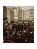 Masaniello Revolt, July 7, 1647 Giclee Print by Michelangelo Cerquozzi