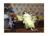 Lady with Parrots, Ca 1869 Giclee Print by Giuseppe De Nittis