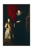 Geronima Brignole Sale with Her Daughter, 1627 Giclée-Druck von Anthony Van Dyck