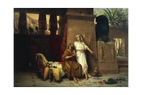 Abraham and Sarah at the Court of the Pharaohs, 1875 Giclee Print by Giovanni Muzzioli