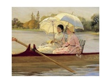 Women in Boats on the Thames, 1878 Giclee Print by Giuseppe De Nittis