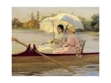 Women in Boats on the Thames, 1878 Giclee Print by Giuseppe De Nittis