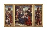 Triptych with Adoration of Magi, 1515-1520 Giclée-Druck von Joos Van Cleve