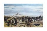 Assault at Madonna Della Scoperta Giclee Print by Giovanni Fattori