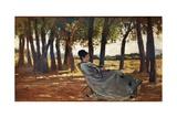 Madam Martelli Castiglioncello, Circa 1867 Giclee Print by Giovanni Fattori