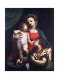 Madonna and Child with Mary Magdalene Giclee Print by Luca Cambiaso