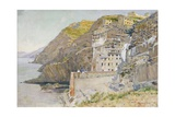 View of Riomaggiore Countryside Reproduction procédé giclée par Telemaco Signorini