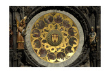 The Prague Astronomical Clock, the Calendar Giclee Print by Josef Manes