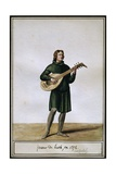 Lute Player, 1372, Charles V Era Costume Giclee Print by Pierre de La Mesangere