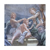 Youths on Balcony Giclee Print by Antonio Allegri Da Correggio