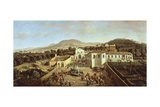 Convent of San Paolo in Albano Giclee Print by Gaspar van Wittel