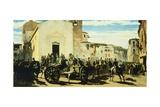 Tuscan Artillery in Montechiaro, 1860 Impression giclée par Telemaco Signorini