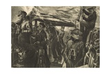 On the Bridge of a Torpedo Boat During the Night Reconnaisance Giclee Print by Felix Schwormstadt