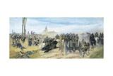 Assault on Madonna Della Scoperta, Circa 1864-1868 Giclee Print by Giovanni Fattori