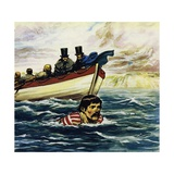 Captain William Webb Was the First Man to Swim the Channel Giclee Print by Alberto Salinas