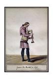 Bagpipe Player, 1372 Giclee Print by Pierre de La Mesangere