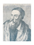 Portrait of the Painter Titian, 1587 Giclee Print by Agostino Carracci