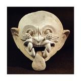 Pottery Feline Mask, Artifact Originating from La Tolita Giclee Print