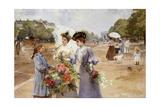 The Avenue of the Bois De Boulogne - Spring Morning, 1902 Giclee Print by Louis de Schryver