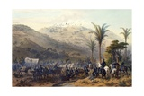 Battle of Cerro Gordo, April 18, 1847 Giclee Print by Carl Nebel