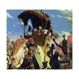 Clive Took Calcutta and Helped Put a New Ruler on the Throne of Bengal Giclee Print by Alberto Salinas
