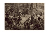 German Troops with Spoils of War and Prisoners and Captured Cattle Giclee Print by Felix Schwormstadt