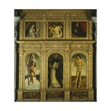 St Vincent Ferrari Triptych Giclee Print by Giovanni Bellini