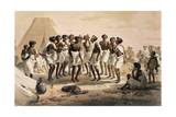 Chohos Dance, Ethiopia, Engraving from a Drawing by Jean Vignaud Giclee Print