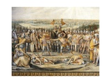 Combat Between Horatii and Curiatii Giclee Print by Giuseppe Cesari