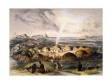 Zulu Kraal Near Umlazi in Natal Giclee Print by George French Angas