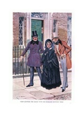 They Quitted the House with Mrs Nicleby Between Them Giclee Print by Charles Edmund Brock