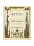 Verse About the Tower of London with Images of Armour and Weaponry Giclee Print by Thomas Crane