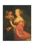 Portrait of Anne Marie Louise D'Orleans, Duchesse De Montpensier Giclee Print by Gilbert de Seve