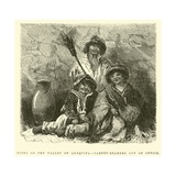 Types of the Valley of Arequipa, Carpet-Bearers Out of Office Giclee Print by Édouard Riou