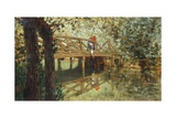 Wooden Bridge in Combs-La-Ville Impression giclée par Telemaco Signorini