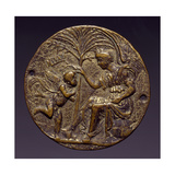 Plaque Depicting Allegorical Scene Giclee Print by Andrea Riccio
