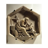 Fidia Carving a Sculpture, 1334-1336 Giclee Print by Andrea Pisano