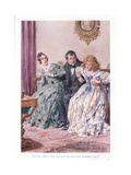 """Cousin Mercy, Will You Have Me for Your Husband Eh"" Giclee Print by Charles Edmund Brock"