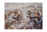 Belgians Repelling a Fierce German Attack at Liege Giclee Print by Arthur C. Michael