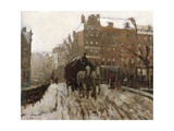 Bridge over Singel Canal by the Paleisstraat, Amsterdam, C.1895-1900 Giclee Print by Georg-Hendrik Breitner