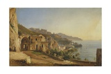View of Amalfi from the Cave of the Capuchins, 1835 Giclee Print by Giacinto Gigante